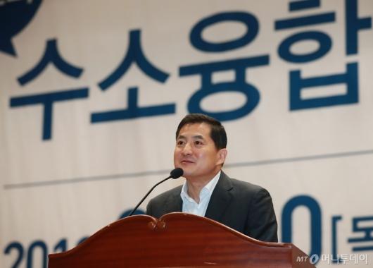 [사진]수소융합얼라이언스 포럼 참석한 박대출 의원