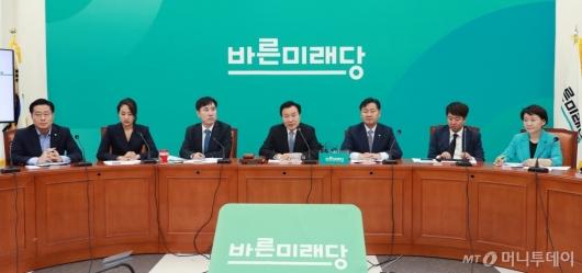 [사진]바른미래당 신임 지도부 첫 최고위 개최