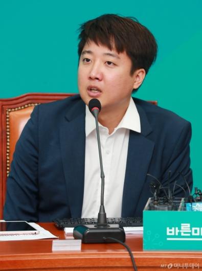 [사진]모두발언하는 이준석 바른미래당 최고위원