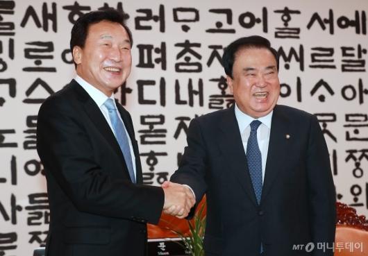 [사진]손학규 바른미래당 신임 대표, 문희상 국회의장 예방