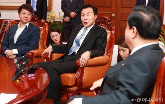 [사진]손학규 신임대표, 국회의장 예방