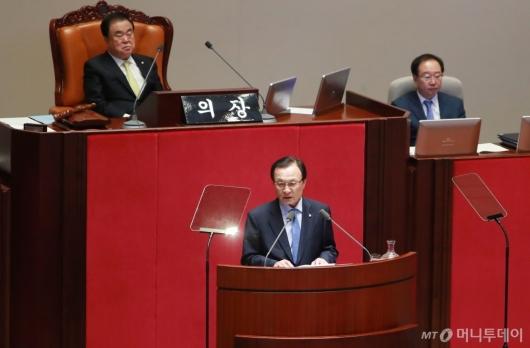[사진]이해찬 민주당 대표, 교섭단체 대표연설