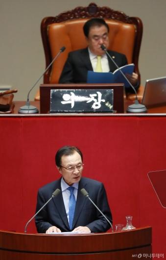 [사진]이해찬, 국회 교섭단체 대표연설