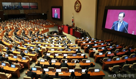 [사진]이해찬 민주당 대표 교섭단체 대표연설