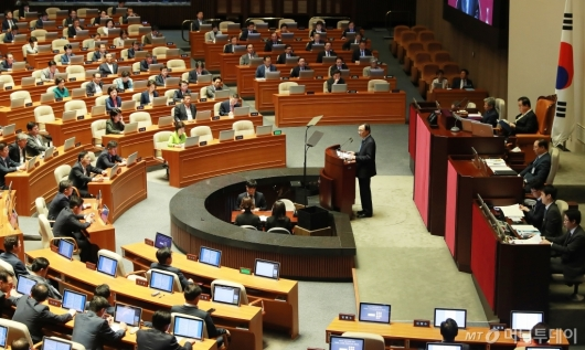 [사진]이해찬 대표, 국회 교섭단체 대표연설