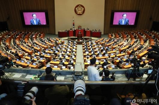 [사진]이해찬 민주당 대표 국회 교섭단체 대표연설