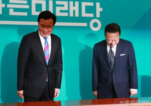 [사진]손학규 대표 찾은 박용만 회장