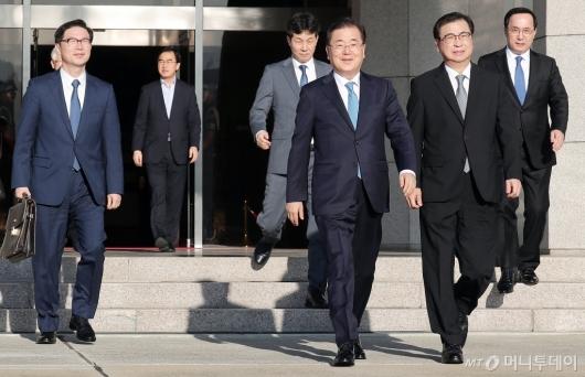 [사진]평양 향하는 대북특사단