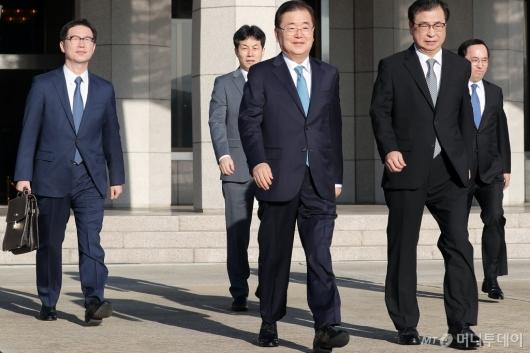 [사진]대북특사단, '문 대통령 친서 들고 평양행'