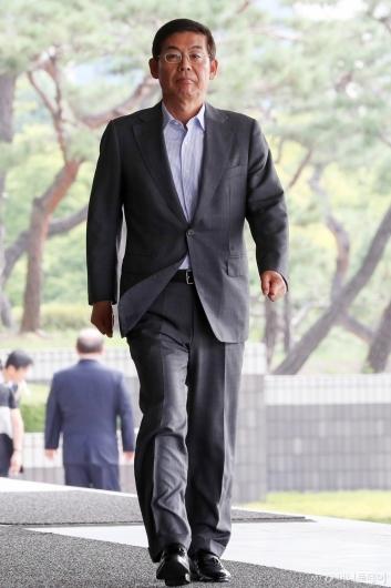 [사진]이상훈 삼성전자 이사회 의장 검찰 출석