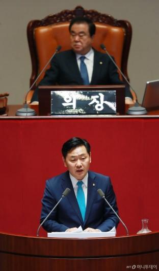 [사진]김관영 바른미래당 원내대표, 교섭단체 대표연설