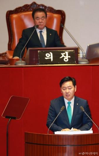 [사진]대표연설하는 김관영 바른미래당 원내대표