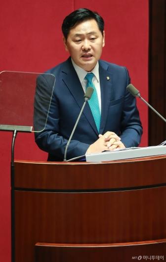 [사진]교섭단체 대표연설하는 김관영 바른미래당 원내대표