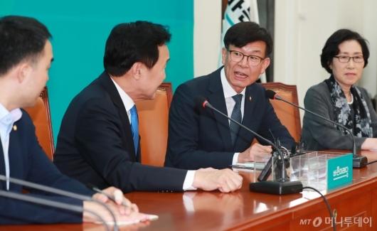 [사진]바른미래당 찾은 김상조 공정거래위원장