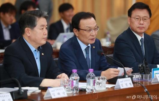 [사진]예산정책協 모두발언하는 이해찬 민주당 대표
