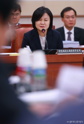 [사진]답변하는 이은애 헌법재판관 후보자