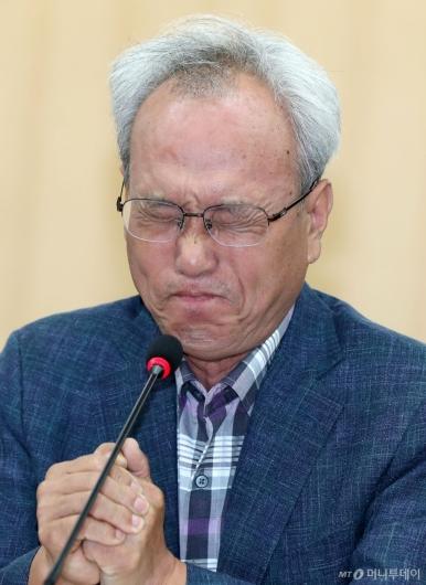 [사진]감격스러워 울먹이는 문성현 위원장