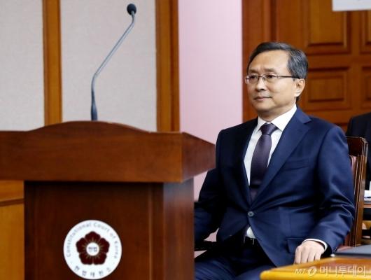 [사진]유남석 헌재소장, 국정감사 출석