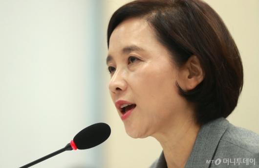 [사진]답변하는 유은혜 교육부 장관