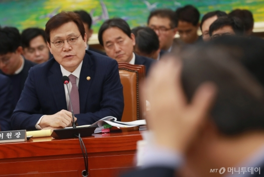 [사진]국감 출석한 최종구 금융위원장