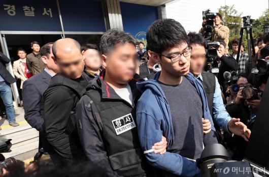 [사진]경찰서 나서는 '강서구 PC방 살인' 김성수