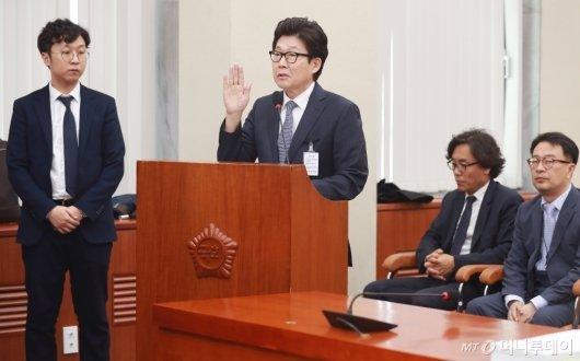 [사진]검증대 선 조명래 환경부 장관 후보자