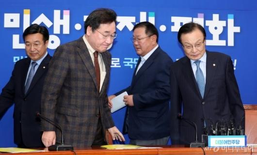 [사진]고위 당·정·청 회의 참석하는 이낙연 총리-이해찬 대표