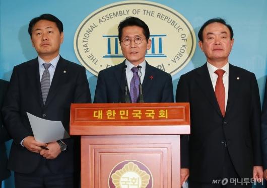 [사진]야3당 '민주당-한국당 예산 합의는 밀실야합'