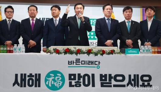 [사진]신년인사하는 손학규 바른미래당 대표