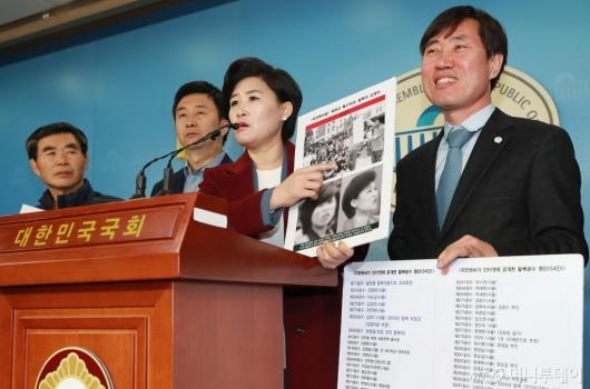 [사진]'지만원 5.18 北특수부대 개입 주장' 피해 탈북자 기자회견