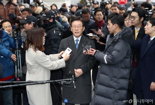 [사진]첫 공판 출석한 이재명 지사