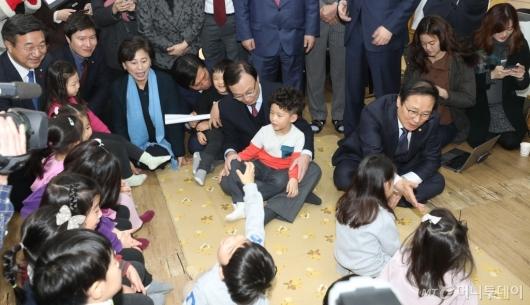 [사진]유치원 방문한 민주당