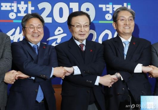 [사진]민주당 찾은 노영민 비서실장-강기정 정무수석