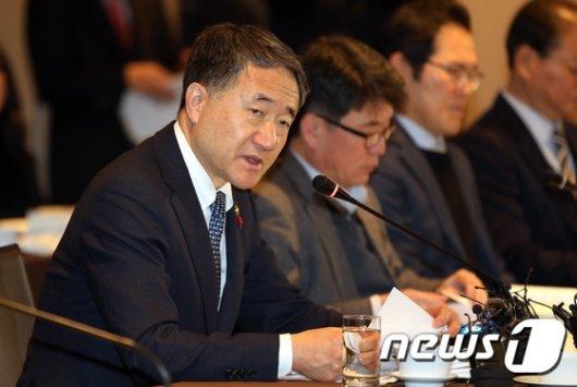 [사진] 박능후 복지부 장관, 국민연금 기금운용위 모두발언