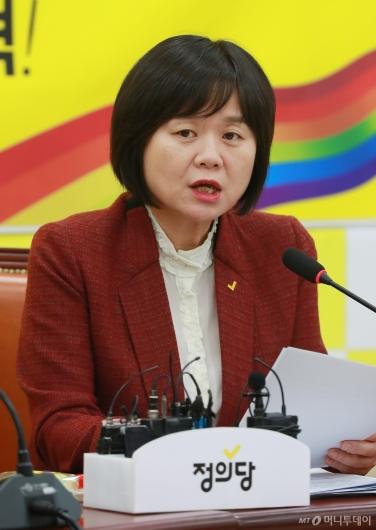 [사진]이정미 정의당 대표 신년 기자간담회