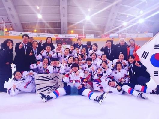 '우승' U18 女 아이스하키, 2020년 세계선수권 3부리그 승격