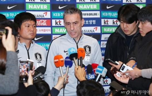 [사진]벤투 감독, 아시안컵 4강 진출 실패