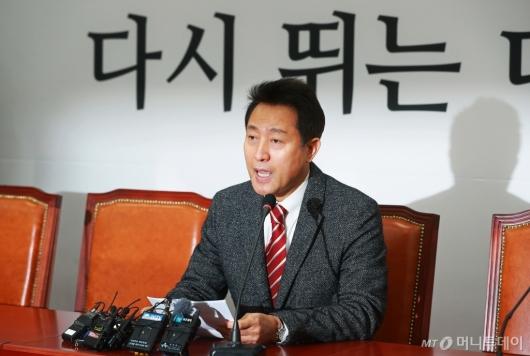 [사진]오세훈, 전당대회 보이콧 철회...재출마