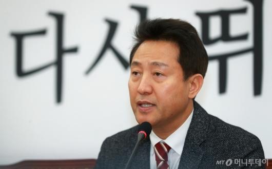 [사진]전당대회 보이콧 철회한 오세훈 전 시장