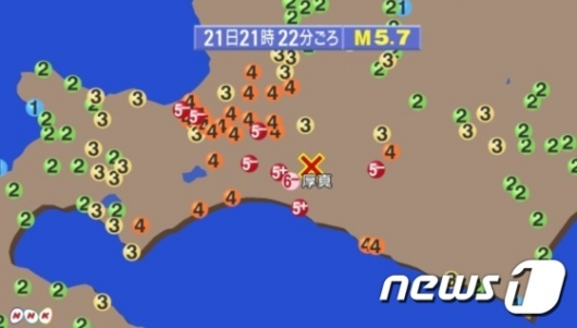 日 홋카이도 5.7 강진…신칸센 멈췄다