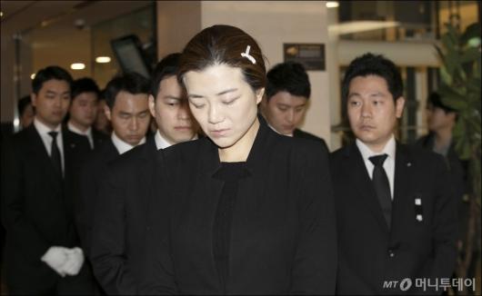 [사진]영결식장 향하는 조현민 전 전무