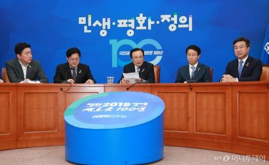 [사진]이해찬 민주당 대표 8차 기자간담회
