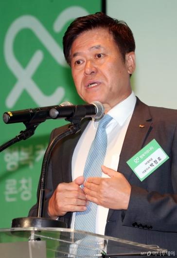 [사진]인사말하는 박정호 SKT 사장