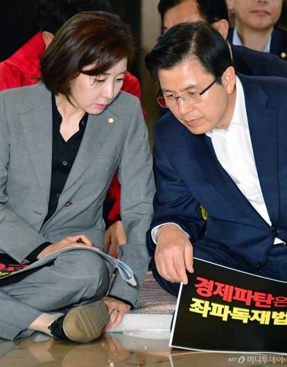 [사진]대화하는 황교안-나경원