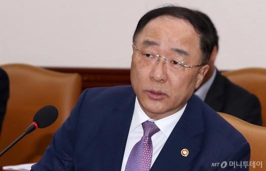 [사진]홍남기 부총리, 'GDP 감소 대응'