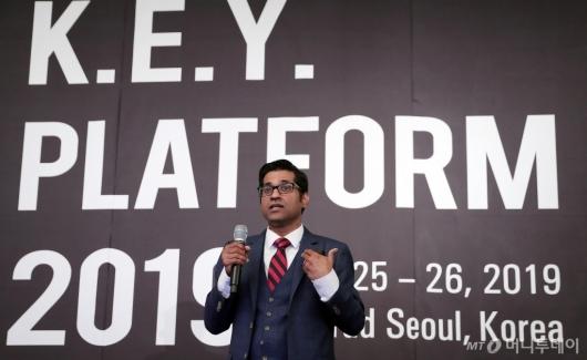 [사진]'2019 키플랫폼' 발표하는 쉬암 나가라잔 이사