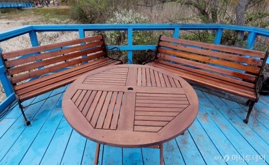 [사진]'남북정상이 나란히 앉았던 도로다리 테이블'