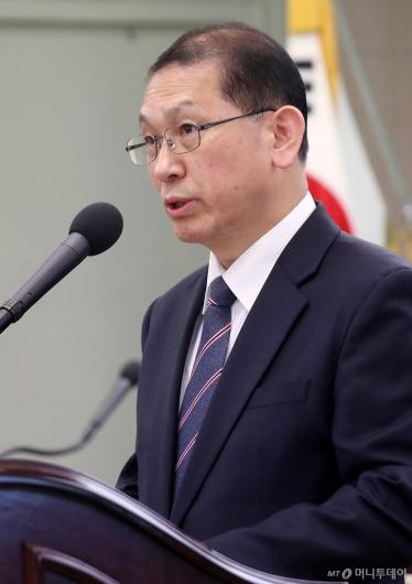 [사진]개회사하는 김창길 한국농촌경제연구원장