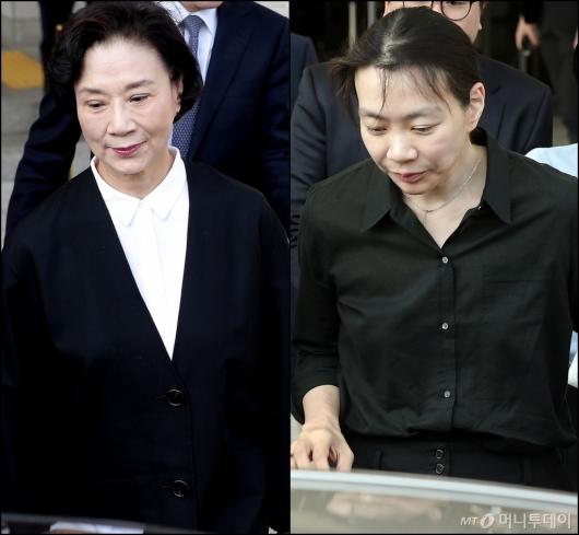 [사진]'공판 마친 한진家 모녀'