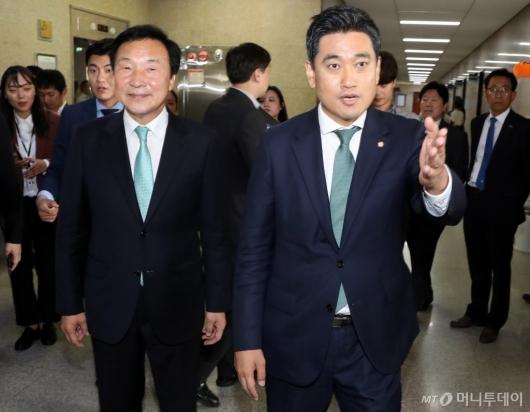 [사진]손학규-오신환 만남